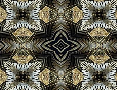 Digital Art - Zebra V by Maria Watt