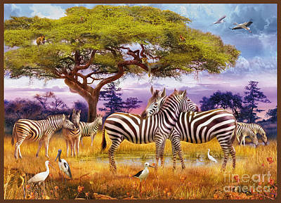Zebras Print by Jan Patrik Krasny