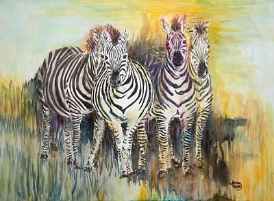 Zebras On Watch Series 008 Original