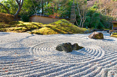 Zen Garden At A Sunny Morning Art Print by Ulrich Schade