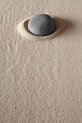 Zen Meditation Stone Art Print by Dirk Ercken