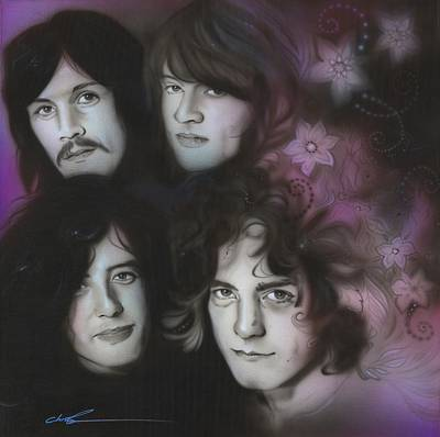 Robert Plant Framed Painting - Led Zeppelin - ' Zeppelin ' by Christian Chapman Art