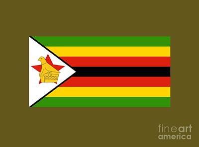 Zimbabwe Flag Original by Frederick Holiday