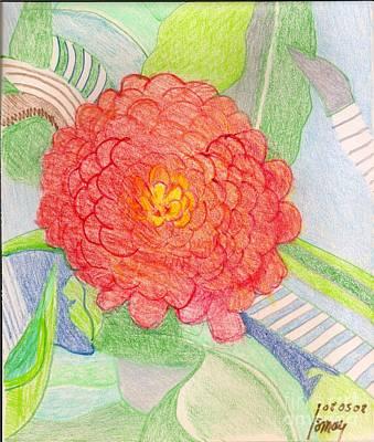 Drawing - Zinnia  by Rod Ismay