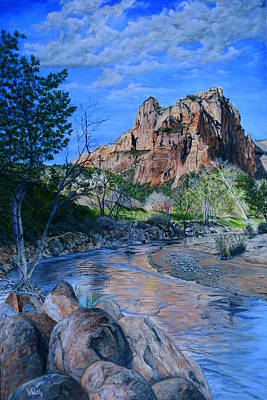 Painting - Zion National Park by Vicky Path