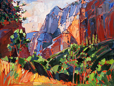 Painting - Zion Summer by Erin Hanson