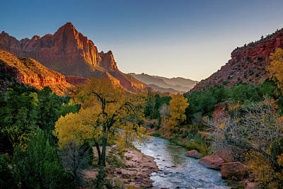 Photograph - Zion Toward The Watchman by Constance Reid