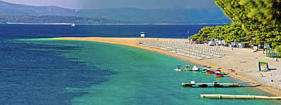 Photograph - Zlatni Rat Famous Turquoise Beach In Bol On Brac Island View by Brch Photography