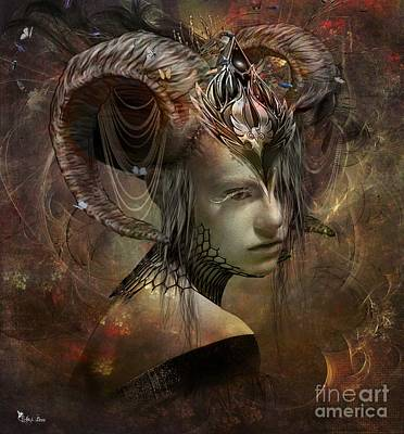 Digital Art - Zodiac Aries by Ali Oppy