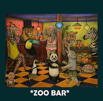 Zebra Painting - Zoobar by Leah Saulnier The Painting Maniac