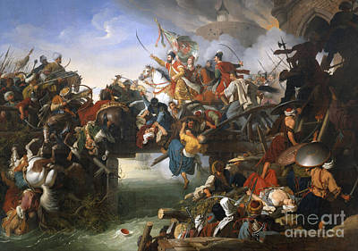 Zrinyi's Charge From The Fortress Of Szigetvar Art Print