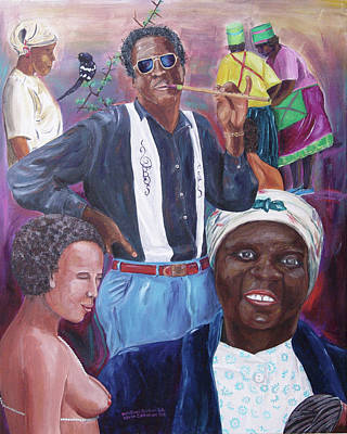 Painting - Zulu Blues by Kevin Callahan