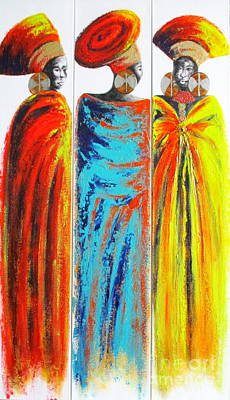 Painting - Zulu Ladies 2 by Tracey Armstrong