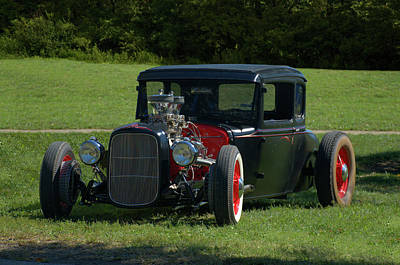 Photograph - 1930 Ford Coupe Hot Rod by TeeMack