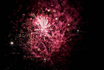 Photograph - A Shining Colorful Firework by Regina Koch