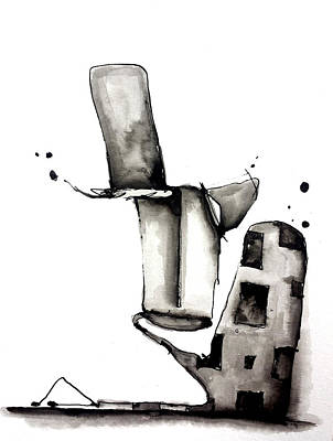 Abstract Ink Character Original by Nick Watts