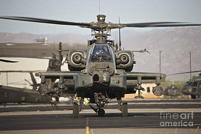 Mannequin Dresses - Ah-64d Apache Longbow Taxiing by Terry Moore