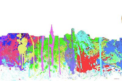 Digital Art - Alexandria Virginia Skyline by Marlene Watson