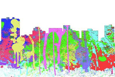 Digital Art - Arlington Texas Skyline by Marlene Watson