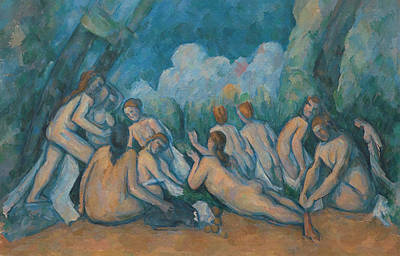 Drawing - Bathers by Paul Cezanne