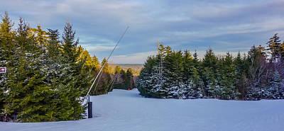 Impressionist Landscapes - Beautiful Winter Landscape At Timberline West Virginia by Alex Grichenko
