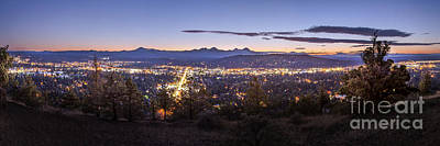 Bend Photograph - Bend From Pilot Butte In Evening by Twenty Two North Photography