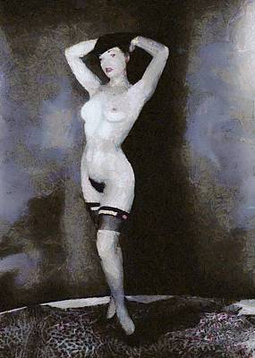Bettie Page Painting - Bettie Page Pinup  by Esoterica Art Agency