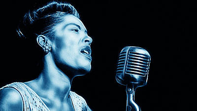 Musicians Mixed Media - Billie Holiday Collection by Marvin Blaine