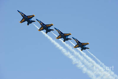 U-2 Painting - Blue Angels by Celestial Images