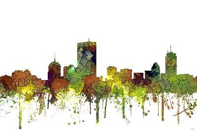 Digital Art - Boston Massachusetts Skyline by Marlene Watson