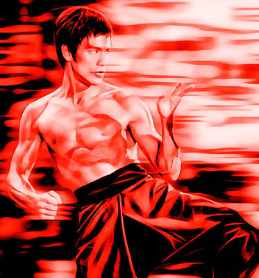 Kung Fu Mixed Media - Bruce Lee Collection by Marvin Blaine
