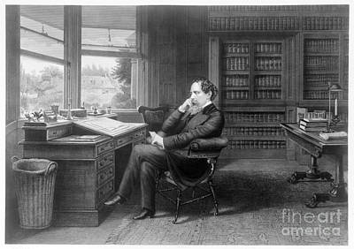 Bookcase Photograph - Charles Dickens (1812-1870) by Granger