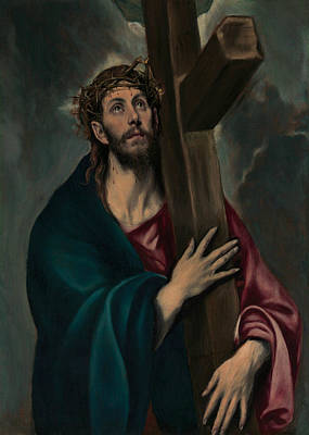 Jesus Art Painting - Christ Carrying The Cross by El Greco