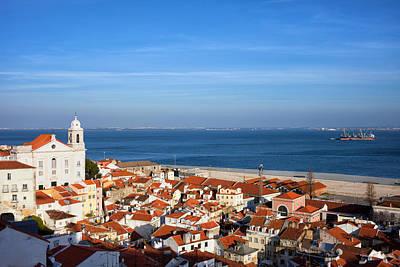 City Of Lisbon In Portugal Art Print by Artur Bogacki