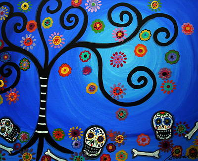Carter Painting - Dia De Los Muertos by Pristine Cartera Turkus