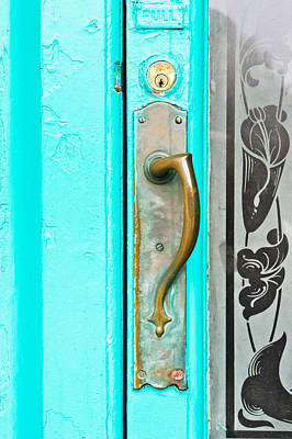 Door Handle Art Print by Tom Gowanlock