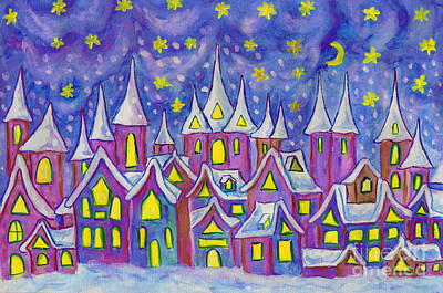 Painting - Dreamstown, Painting by Irina Afonskaya
