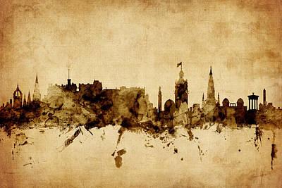 Cityscape Digital Art - Edinburgh Scotland Skyline by Michael Tompsett