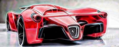 Ferrari Laferrari Art Print