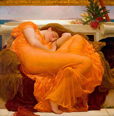 Nudes Royalty-Free and Rights-Managed Images - Flaming June by Frederic Leighton