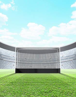 Playing Digital Art - Floodlit Stadium Day by Allan Swart