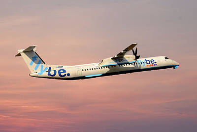 Photograph - Flybe Bombardier Dash 8 Q400 by Smart Aviation