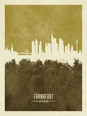 Digital Art - Frankfurt Germany Skyline by Michael Tompsett