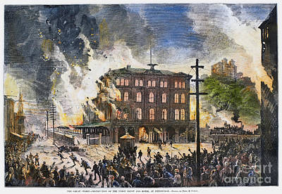 Labor Union Photograph - Great Railroad Strike, 1877 by Granger