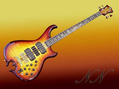 String Instruments Digital Art - Guitar by Maye Loeser