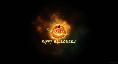 Bright Digital Art - Halloween by Super Lovely