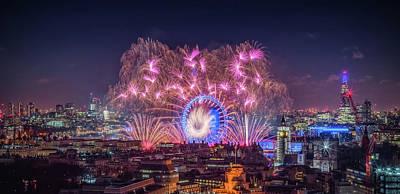 Photograph - Happy New Year London by Stewart Marsden