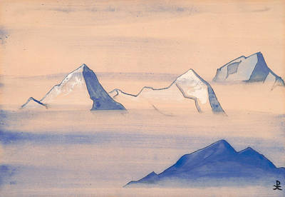 Snow Painting - Himalayas by Nicholas Roerich