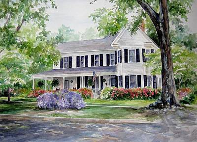 Art Print featuring the painting Home Portrait by Gloria Turner