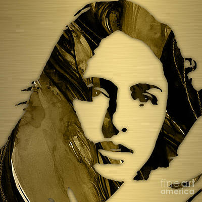 Mixed Media - Joan Baez Collection by Marvin Blaine